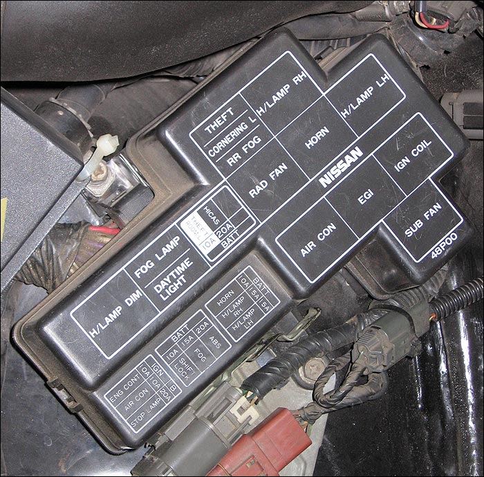 photo guide to the z32 fuses 300ZX Fuse Box Diagram at 300zx 1996 Fuse Relay Box