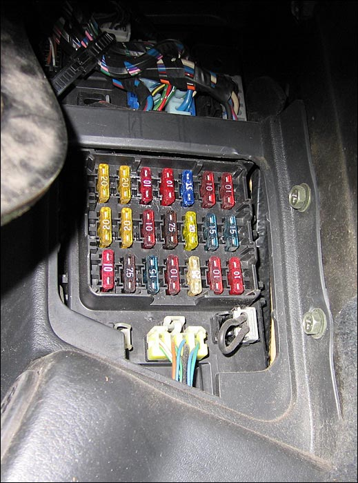 photo guide to the z32 fuses fuse panel in driver s side footwell